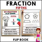 Fifths Fractions Flip Book Activities