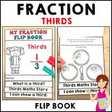 Thirds Fractions Flip Book Activities