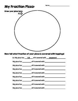 My Fraction Pizza Printable