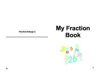 My Fractions Book