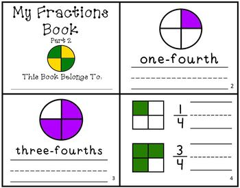 My Fractions Book Part 2 Intro to Fractions Reader Mini-Bo