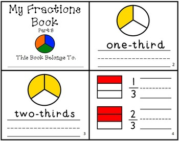 My Fractions Book Intro to Fractions Set of 3 Mini-Books Readers