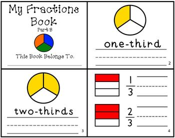 My Fractions Book Part 3 Intro to Fractions Reader Mini-Book Thirds
