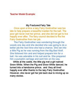 My Fractured Fairy Tale Creative Writing Assignment