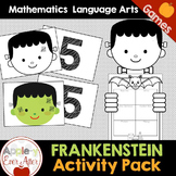My Frankenstein - Halloween Writing Craftivity & Math Game