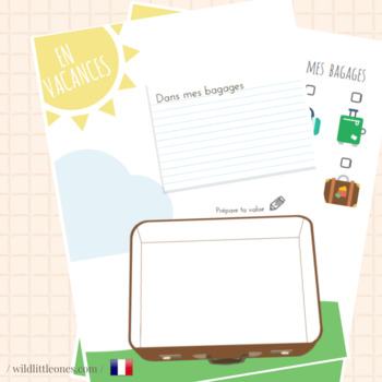 My French Travel Journal⎜En Vacances⎜Travel Planner ⎜Games and Flash Cards