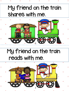My Friend On the Train:  Social Skills Emergent Reader