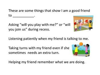 Social Story: My Friend... (boy)