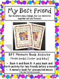 My Friend is Moving BFF Memory Book (Color and B&W)