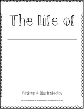 My Friend's Life - Biography Writing *FREEBIE*