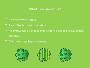 My Friendly Leprechaun Narrative Powerpoint