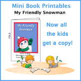My Friendly Snowman Reproducible Mini Book