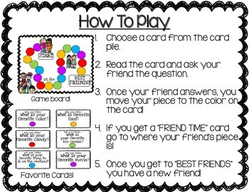 Back to School Game: My Friend's Favorites!