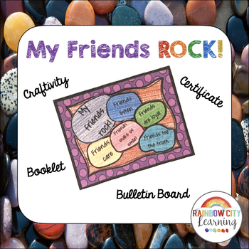 My Friends Rock Rock Garden Craftivity
