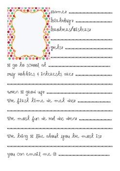 My Friendship Journal (Girl Version)