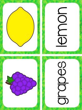 My Fruit Book and Center Activities