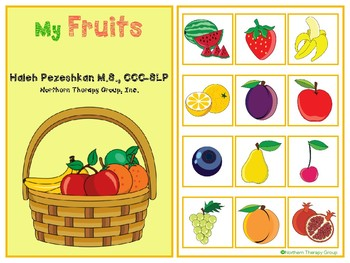 My Fruits Interactive Vocabulary Book