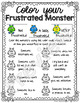 My Frustrated Monster, an identifying emotions activity.
