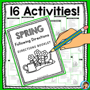 Spring Following Directions Worksheets