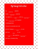 My Funny Valentine Mad Lib  **easy to use**