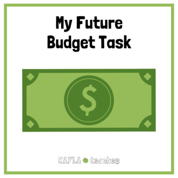FREE My Future Budget Math Task