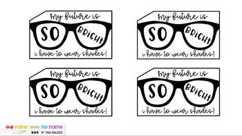 """""""My Future is So Bright!"""" End of Year Gift Tags"""