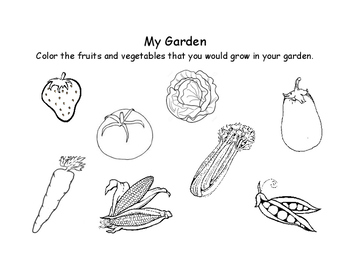 My Garden Coloring Page