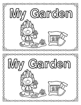 My Garden Emergent Reader and Bonus Math Pages