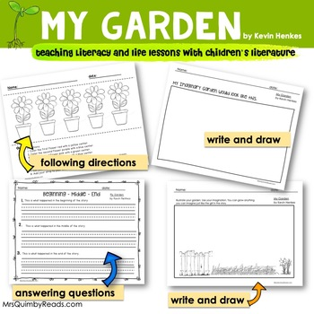 My Garden by Kevin Henkes - Reader Response Pages