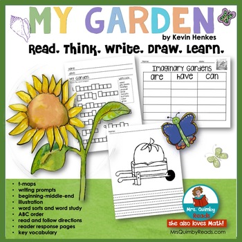 My Garden by Kevin Henkes   Reader Response Pages   Book Companion