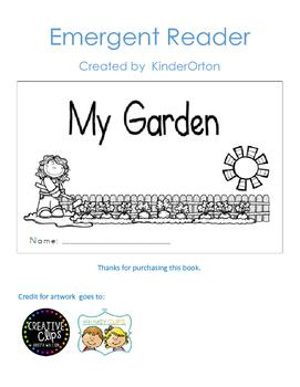 My Garden - emergent reader