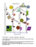 My Geometrical Town (ALL READY TO PRINT!) Great Review Activity!
