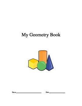 My Geometry Book (shape scavenger hunt for 4th-6th grade)