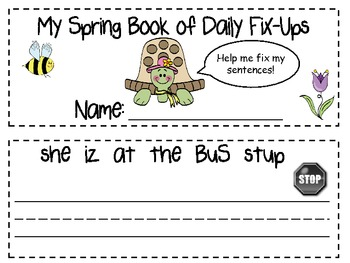 My Giant Book of Daily Spring Fix-Ups  (Editing practice)