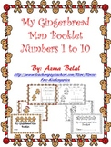 My Gingerbread Man Booklet 1 to 10