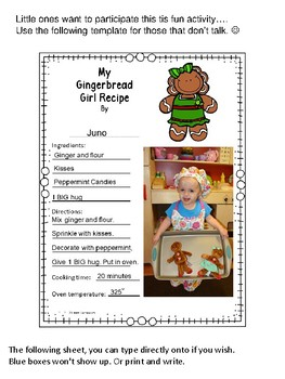 My Gingerbread Man or Girl Recipe