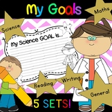 My Goals - Classroom goals for Science, Maths, Writing, Re