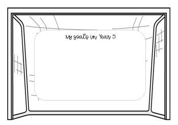 My Goals Activity - Goalpost Craft (Back to School)