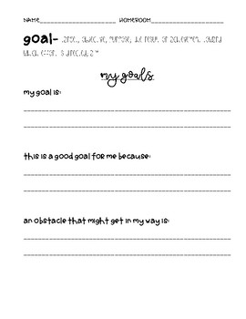 My Goals Do Now for The Beginning of the Year!