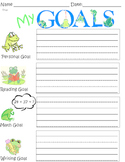 My Goals - Student Goal Sheet for the Year - Frog Theme