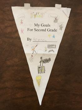 My Goals for First Grade Pendant Craftivity