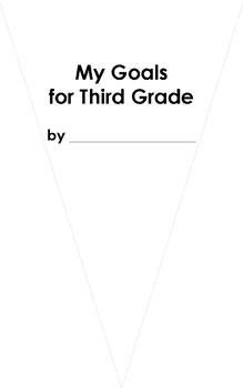 My Goals for Third Grade Pennant Craftivity
