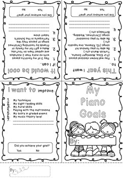 My Goals for my Piano Lessons- A Time Capsule Freebie