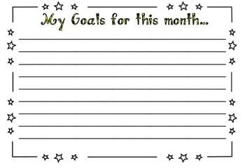 My Goals for this month