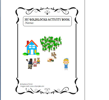 My Goldilocks Activity Work