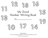 My Good Number Writing Book to 20
