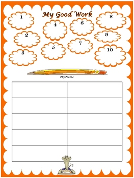 """""""My Good Work""""Charts/Logs (Grids of 5, 10, 20, 30, and 50)"""
