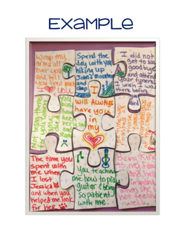 Puzzle Memorials And Goodbye Letters For Grief Groups Tpt