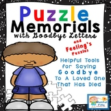Puzzle Memorials and Goodbye Letters for Grief