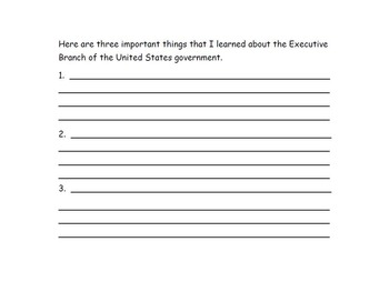 My Government Book - The Three Branches